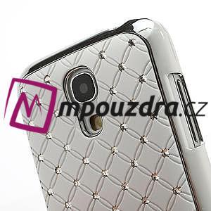 Drahokamové pouzdro pro Samsung Galaxy S4 mini i9190- bílé - 5