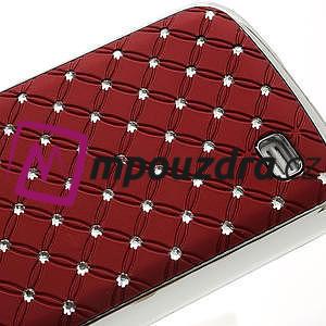 Drahokamové pouzdro pro Samsung Galaxy S4 mini i9190- červené - 5