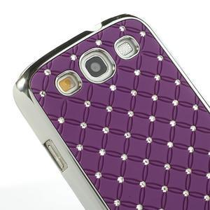 Drahokamové pouzdro pro Samsung Galaxy S3 i9300 - fialové - 5