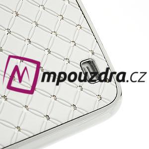 Drahokamové pouzdro pro Samsung Galaxy S4 i9500- bílé - 5