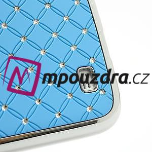 Drahokamové pouzdro pro Samsung Galaxy S4 i9500- světle-modré - 5