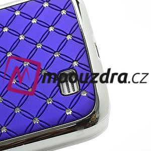 Drahokamové pouzdro pro Samsung Galaxy S4 i9500- modré - 5