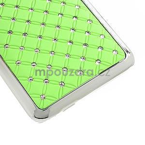 Drahokamové pouzdro pro HTC one Mini M4- zelené - 5