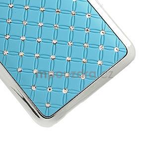 Drahokamové pouzdro pro HTC one Mini M4- světlemodré - 5
