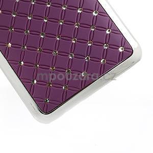 Drahokamové pouzdro pro HTC one Mini M4- fialové - 5