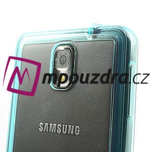 Gelové hybrid pouzdro na Samsung Galaxy Note 3- světlemodré - 5