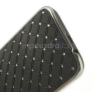 Drahokamové pouzdro pro HTC one M8- černé - 5
