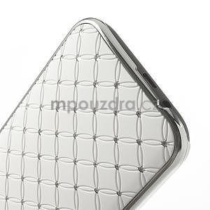 Drahokamové pouzdro pro HTC one M8- bílé - 5