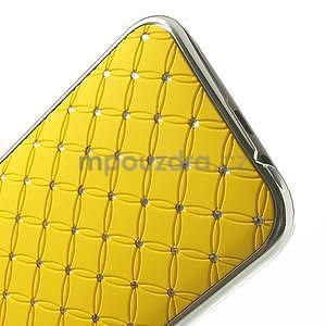 Drahokamové pouzdro pro HTC one M8- žluté - 5