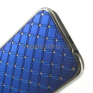 Drahokamové pouzdro pro HTC one M8- modré - 5
