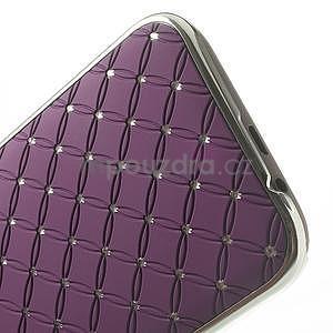 Drahokamové pouzdro pro HTC one M8- fialové - 5