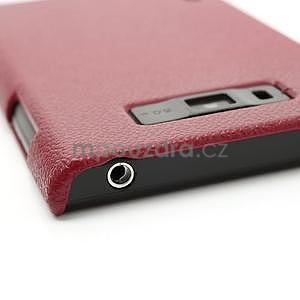 Texturované pouzdro pro LG Optimus L7 P700- červené - 5