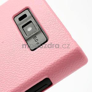 Texturované pouzdro pro LG Optimus L7 P700- světlerůžové - 5