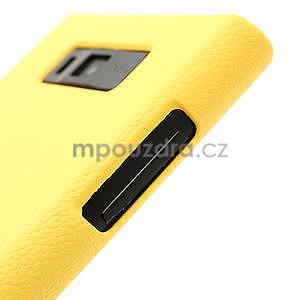 Texturované pouzdro pro LG Optimus L7 P700- žluté - 5