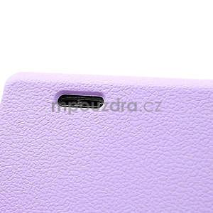 Texturované pouzdro pro LG Optimus L7 P700- fialové - 5