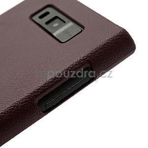 Texturované  pouzdro pro LG Optimus L7 P700- hnědé - 5