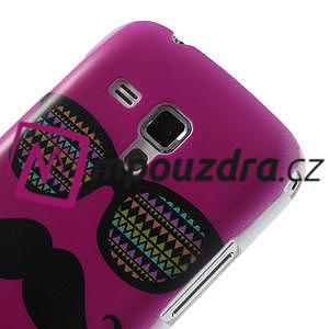 Plastové pouzdro na Samsung Trend plus, S duos - růžové kníraté - 5