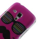 Plastové pouzdro na Samsung Trend plus, S duos - růžové kníraté - 5/6