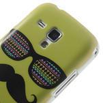 Plastové pouzdro na Samsung Trend plus, S duos - žluté kníraté - 5/6