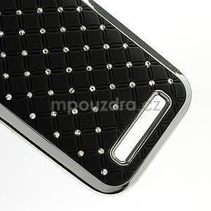 Drahokamové pouzdro pro HTC One SV- černé - 5