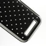 Drahokamové pouzdro pro HTC One SV- černé - 5/6