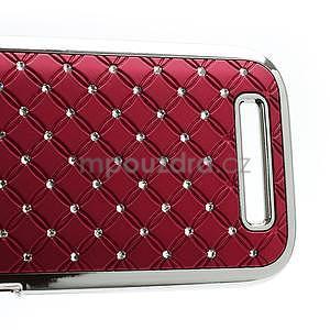 Drahokamové pouzdro pro HTC One SV- červené - 5