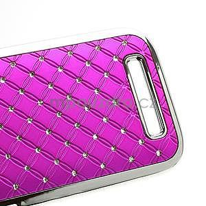Drahokamové pouzdro pro HTC One SV- růžové - 5
