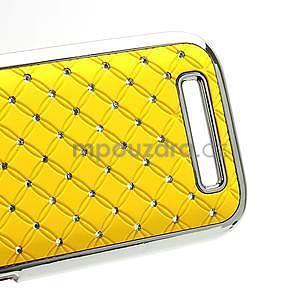 Drahokamové pouzdro pro HTC One SV- žluté - 5