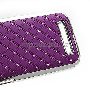 Drahokamové pouzdro pro HTC One SV-fialové - 5