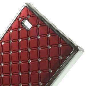 Drahokamové pouzdro na Nokia X dual- červené - 5
