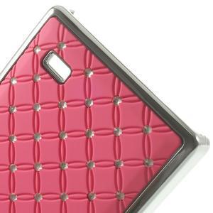 Drahokamové pouzdro na Nokia X dual- světlerůžové - 5
