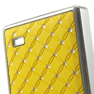 Drahokamové pouzdro na Nokia X dual- žluté - 5