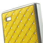 Drahokamové pouzdro na Nokia X dual- žluté - 5/5