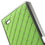 Drahokamové pouzdro na Nokia X dual- zelené - 5/5