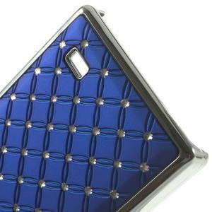 Drahokamové pouzdro na Nokia X dual- modré - 5