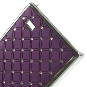 Drahokamové pouzdro na Nokia X dual- fialové - 5
