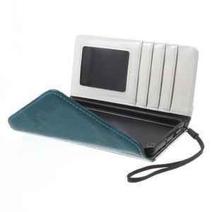 Luxusní peněženkové pouzdro na Huawei P8 Lite - bílé / modrozelené - 5