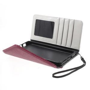 Luxusní peněženkové pouzdro na Huawei P8 Lite - bílé / rose - 5