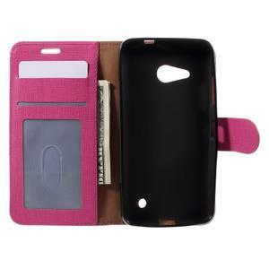 Cloth PU kožené pouzdro na mobil Microsoft Lumia 550 - rose - 5