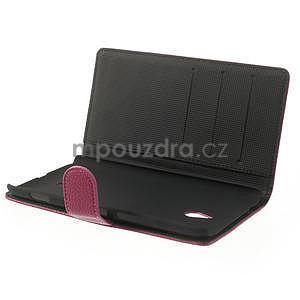 Peněženkové pouzdro pro Nokia Lumia 1320- růžové - 5