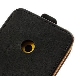 Flipové černé pouzdro na Nokia Lumia 520 - 5
