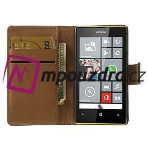 Peněženkové pouzdro na Nokia Lumia 520 - černé - 5