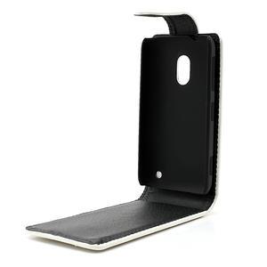 Flipové pouzdro na Nokia Lumia 620- bílé - 5