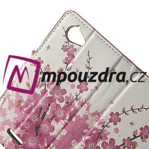 Peněženkové pouzdro na Sony Xperia L C2105- kvetoucí větvička - 5
