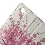 Peněženkové pouzdro na Sony Xperia L C2105- kvetoucí větvička - 5/7
