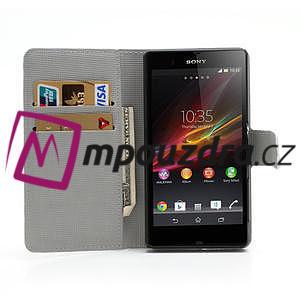 Peněženkové pouzdro na Sony Xperia Z C6603 - zebrované - 5