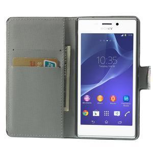 Peněženkové pouzdro na Sony Xperia M2 D2302- vzorové - 5