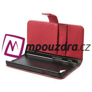 Peněženkové pouzdro na LG Optimus L9 II D605 - červené - 5