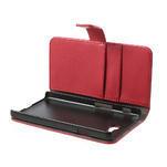 Peněženkové pouzdro na LG Optimus L9 II D605 - červené - 5/7