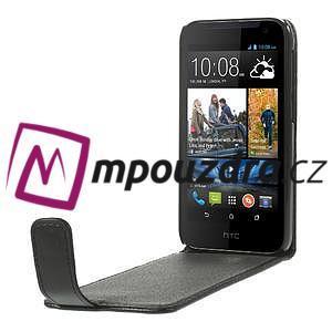 Flipové Cover PU kožené pouzdro na HTC Desire 310- černé - 5